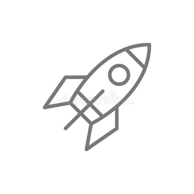 Het pictogram van de raketlijn stock illustratie