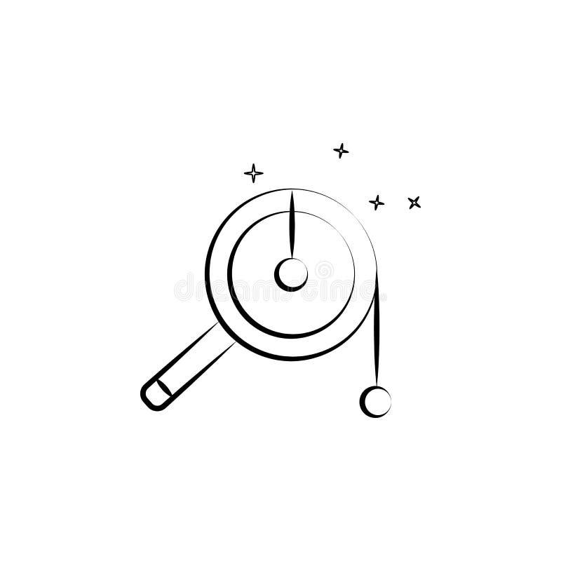 Het pictogram van de rammelaartrommel Element van dia DE muertos pictogram voor mobiele concept en webtoepassingen Kan het hand g stock illustratie