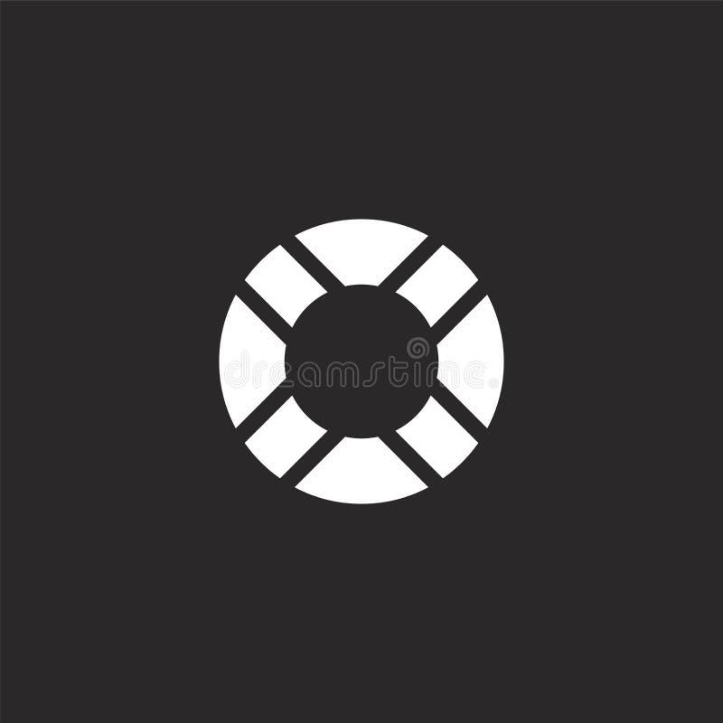 Het pictogram van de reddingsboei Gevuld reddingsboeipictogram voor websiteontwerp en mobiel, app ontwikkeling reddingsboeipictog stock illustratie