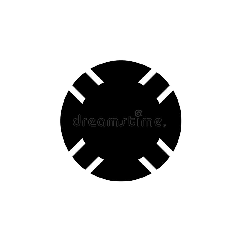 Het pictogram van de reddingsboei De tekens en de symbolen kunnen voor Web, embleem, mobiele toepassing, UI, UX worden gebruikt stock illustratie