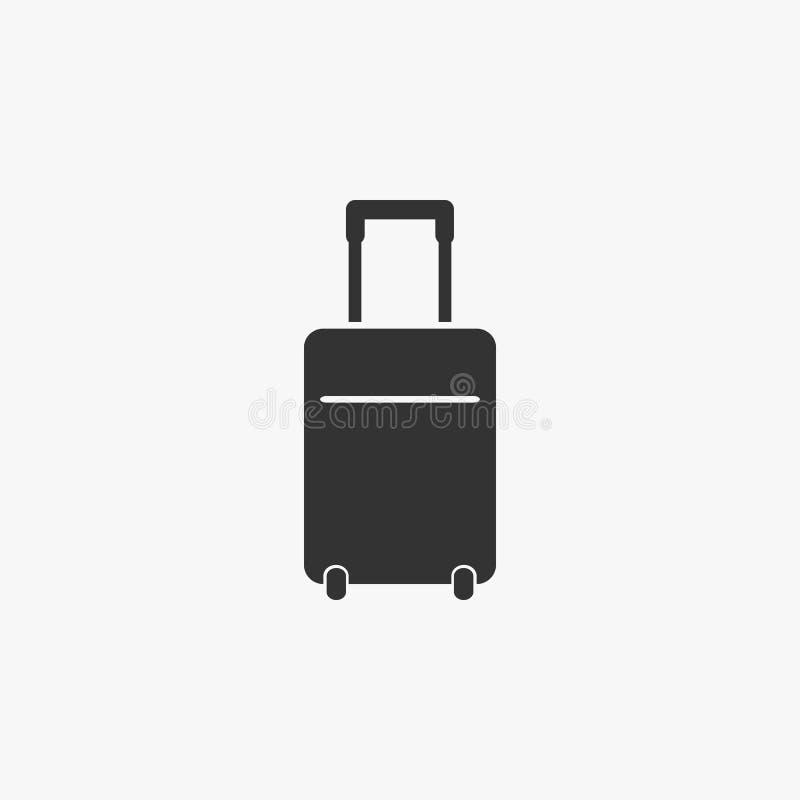 Het pictogram van de reiszak, reis, zak, bagage stock illustratie