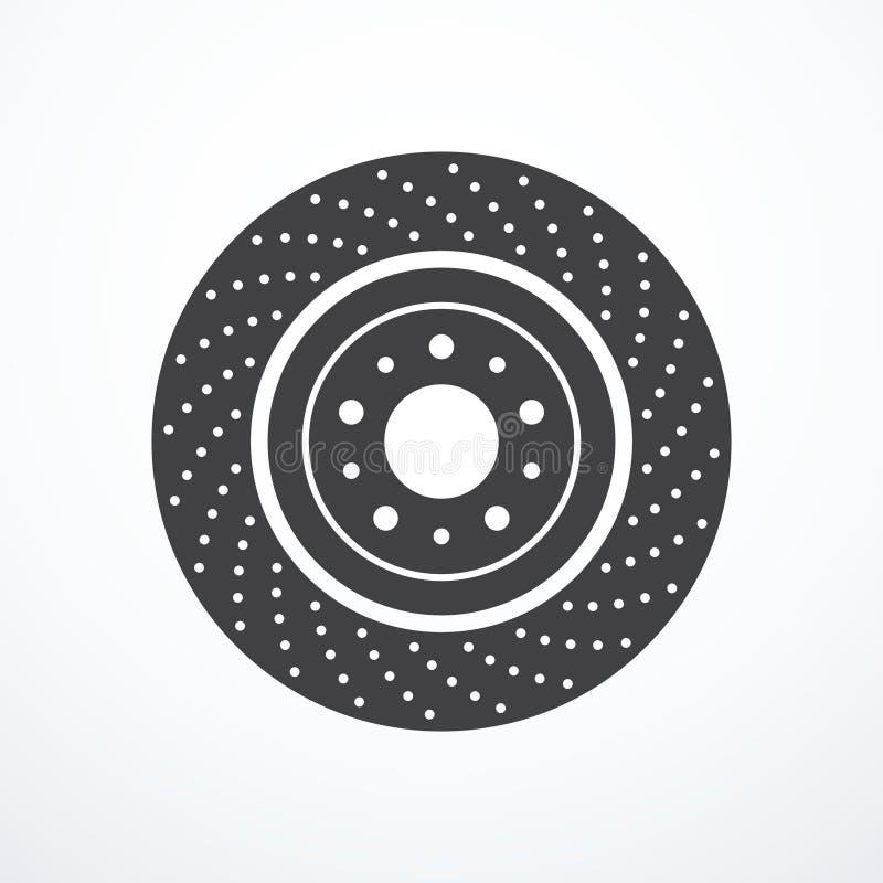 Het pictogram van de remschijf stock illustratie