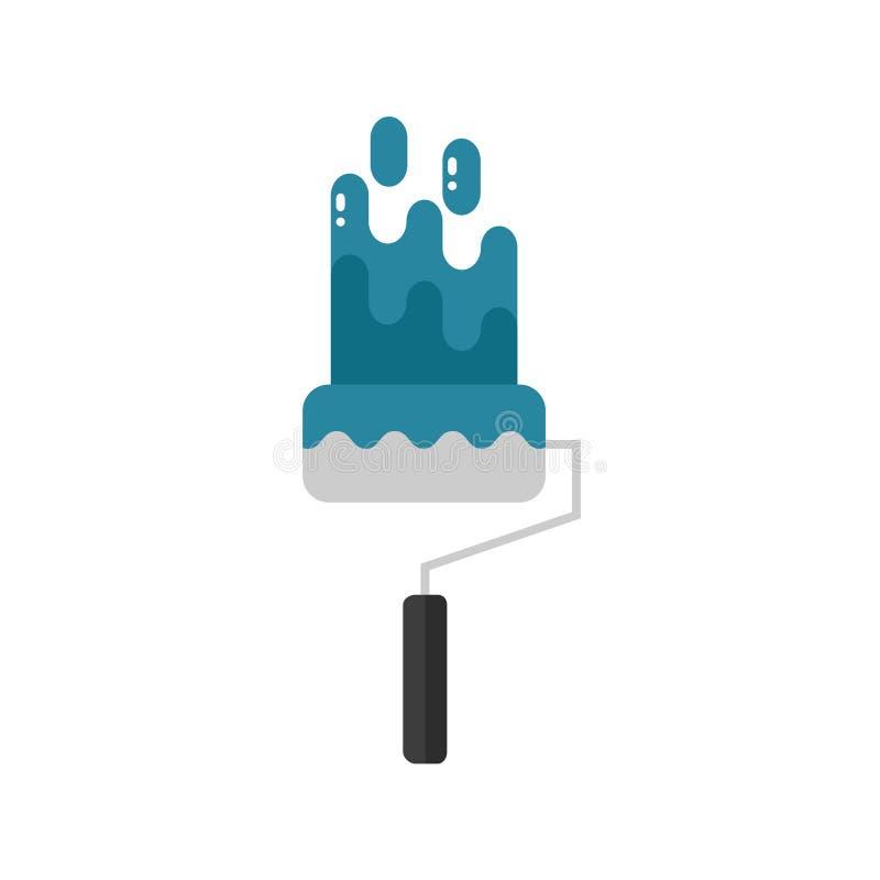Het pictogram van de reparatieborstel op witte achtergrond wordt geïsoleerd die stock afbeelding
