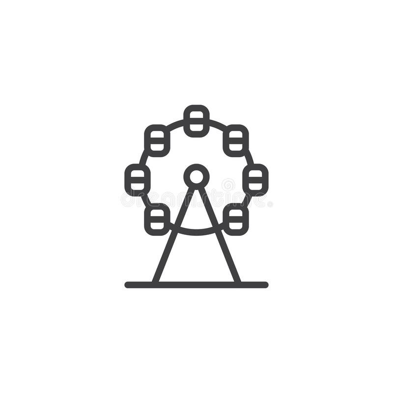 Het pictogram van de reuzenradlijn vector illustratie