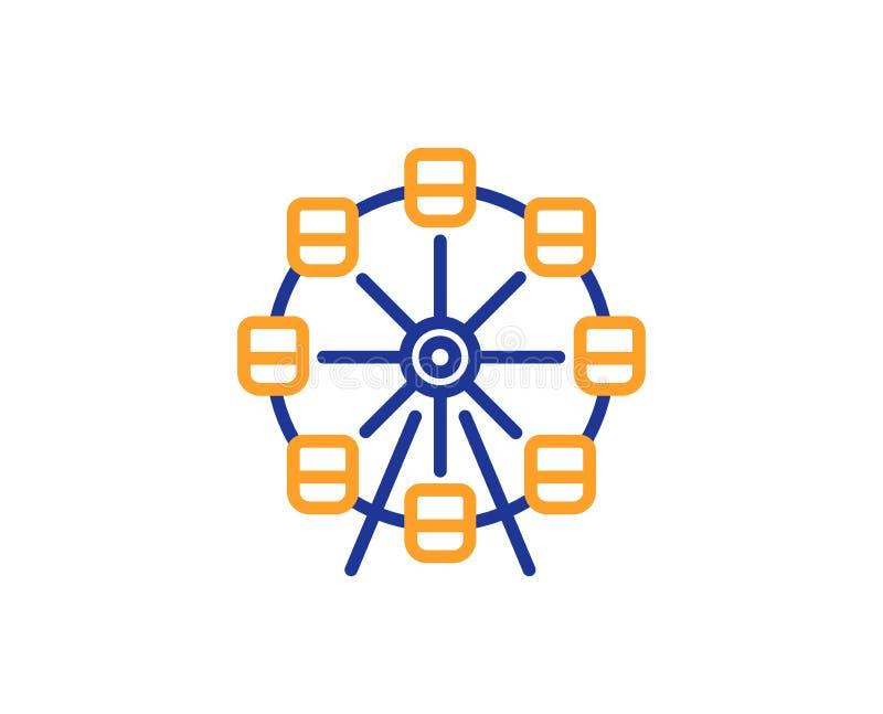 Het pictogram van de reuzenradlijn Pretparkteken Vector royalty-vrije illustratie