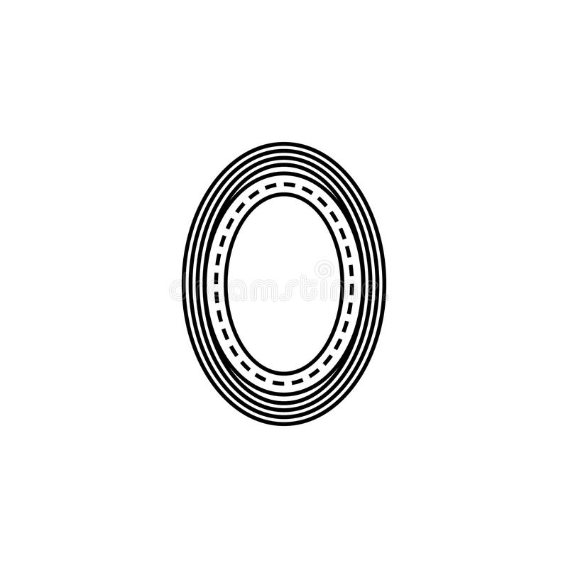 het pictogram van de ringsweg Element van het rennen voor mobiel concept en Web apps pictogram Dun lijnpictogram voor websiteontw stock illustratie