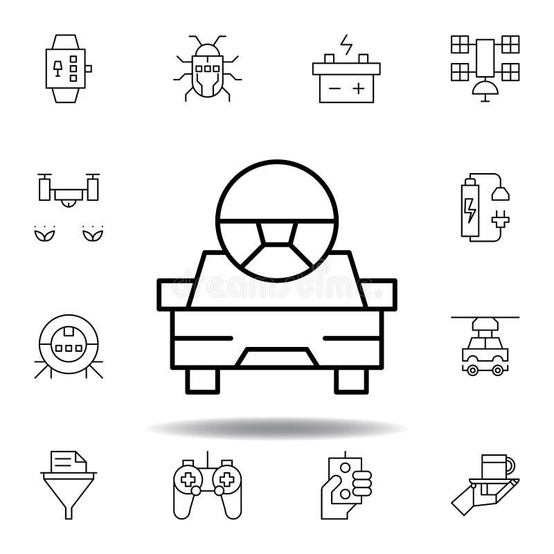 Het pictogram van het de robotoverzicht van de roboticaauto reeks pictogrammen van de roboticaillustratie de tekens, symbolen kun royalty-vrije illustratie