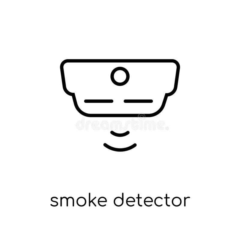 het pictogram van de rookdetector van Elektronische apparateninzameling stock illustratie