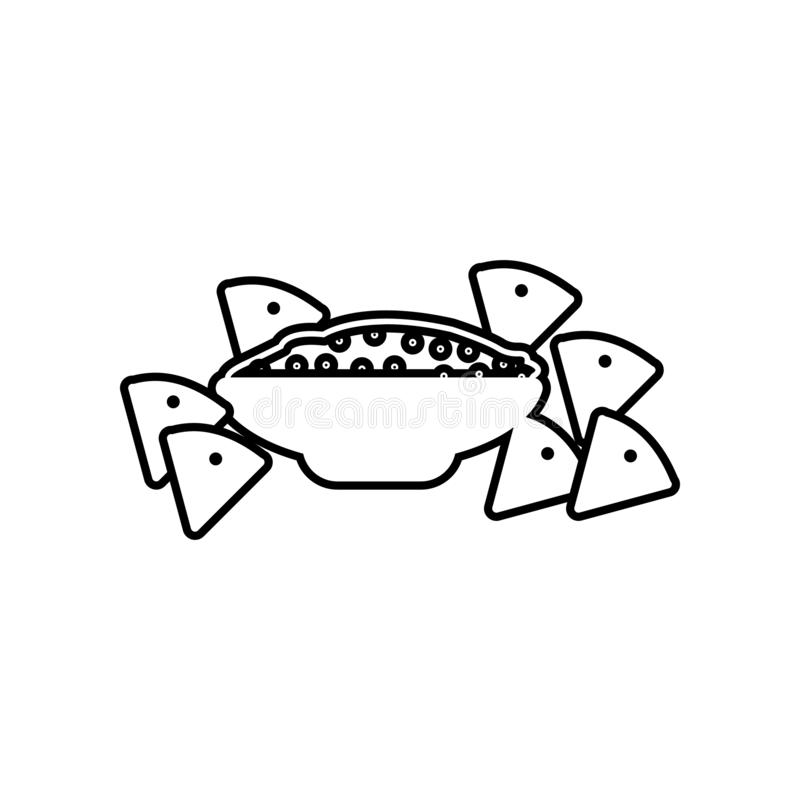 het pictogram van de salsasaus Element van Mexico voor mobiel concept en webtoepassingenpictogram Overzicht, dun lijnpictogram vo vector illustratie