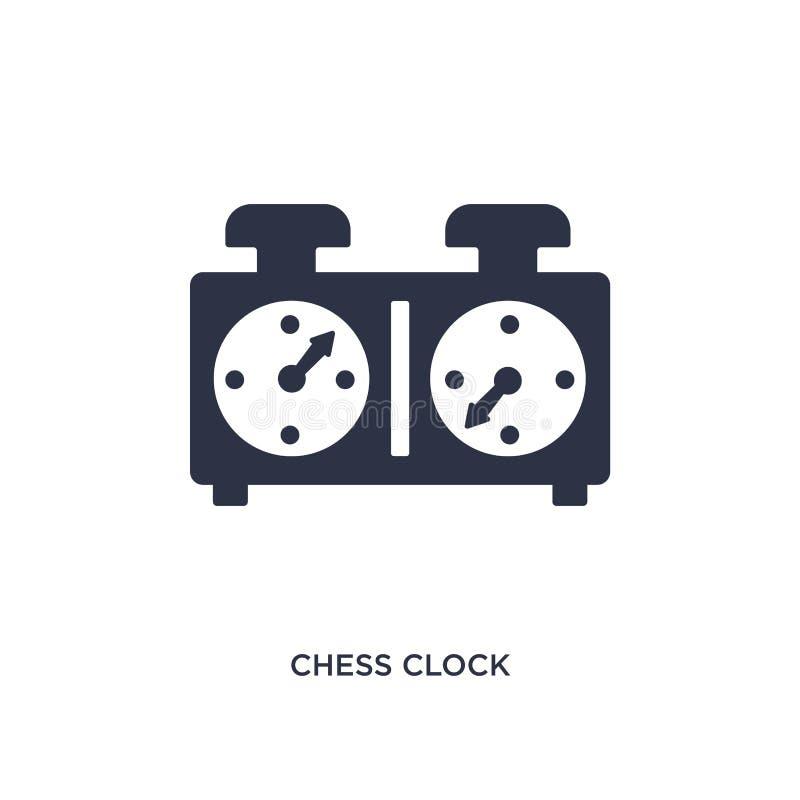 het pictogram van de schaakklok op witte achtergrond Eenvoudige elementenillustratie van personeelsconcept royalty-vrije illustratie