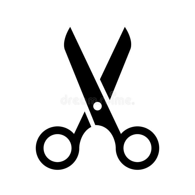 Het pictogram van de schaar stock illustratie