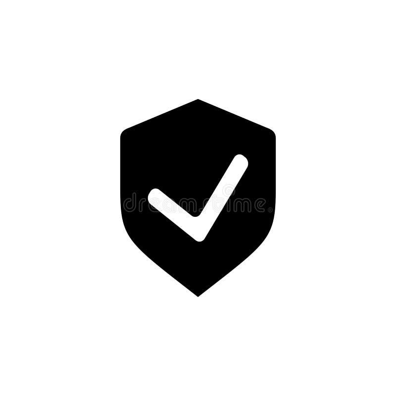 Het pictogram van de schildcontrole Elementen van het pictogram van de cyberveiligheid Het grafische ontwerp van de premiekwalite vector illustratie