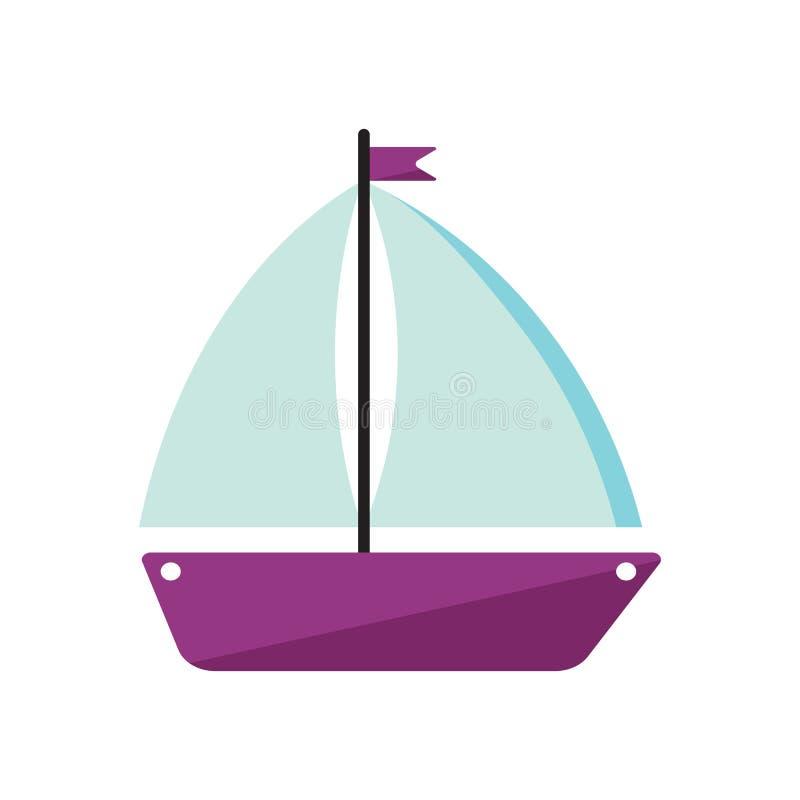 Het pictogram van de schipboot vector illustratie