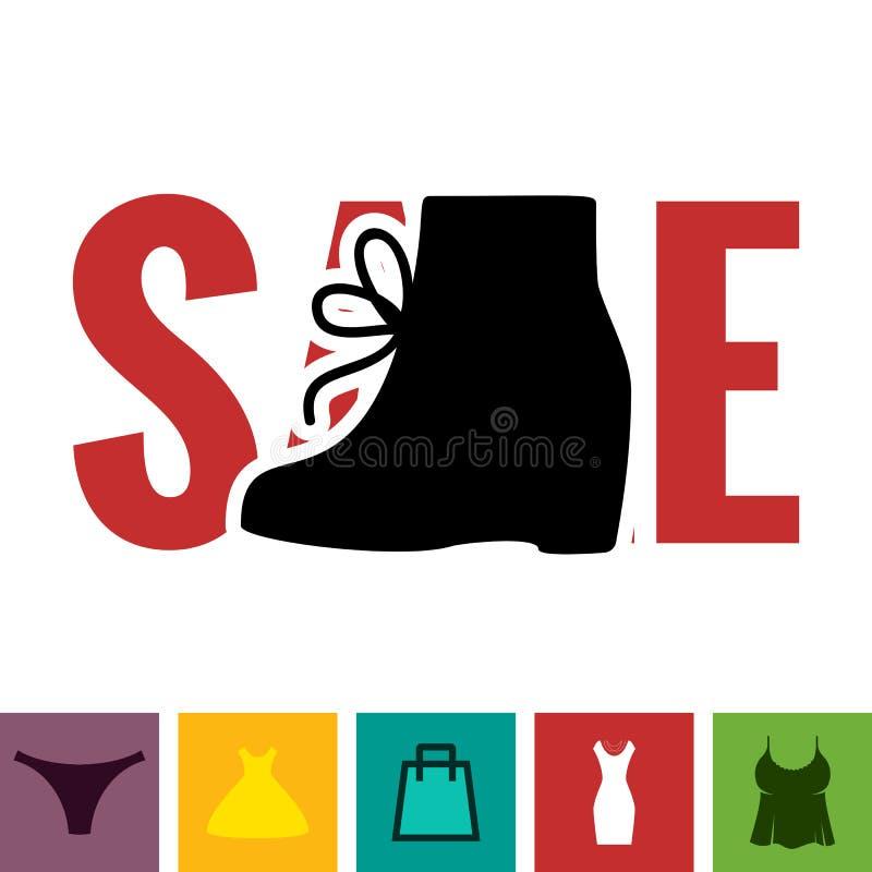 Het Pictogram van de schoeiselverkoop stock illustratie