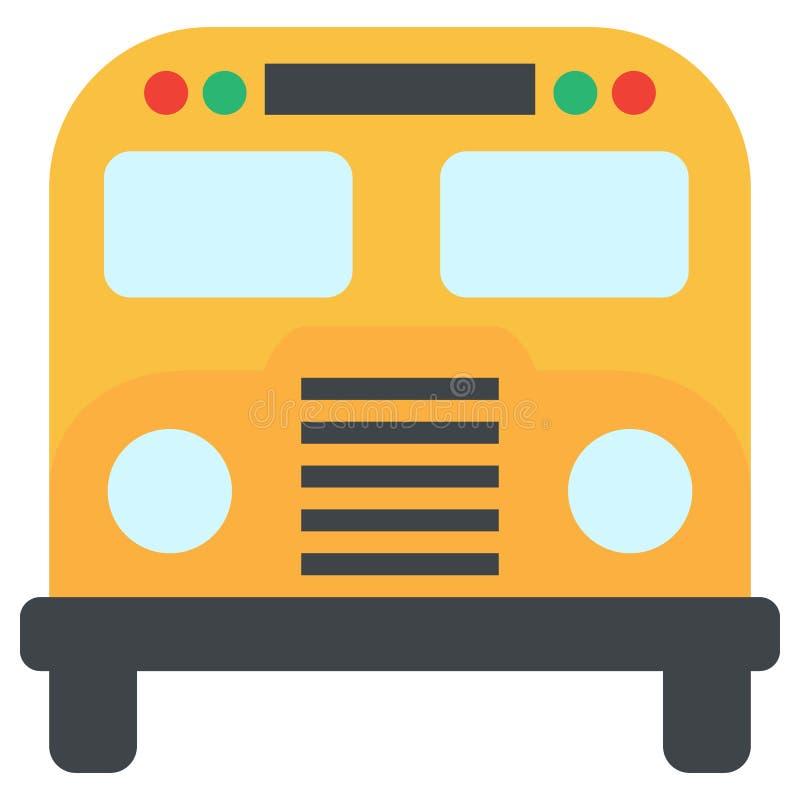 Het pictogram van de schoolbus, vectorillustratie vector illustratie