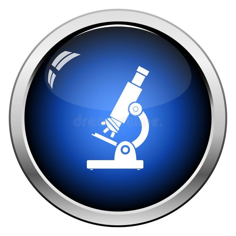 Het pictogram van de schoolmicroscoop royalty-vrije illustratie