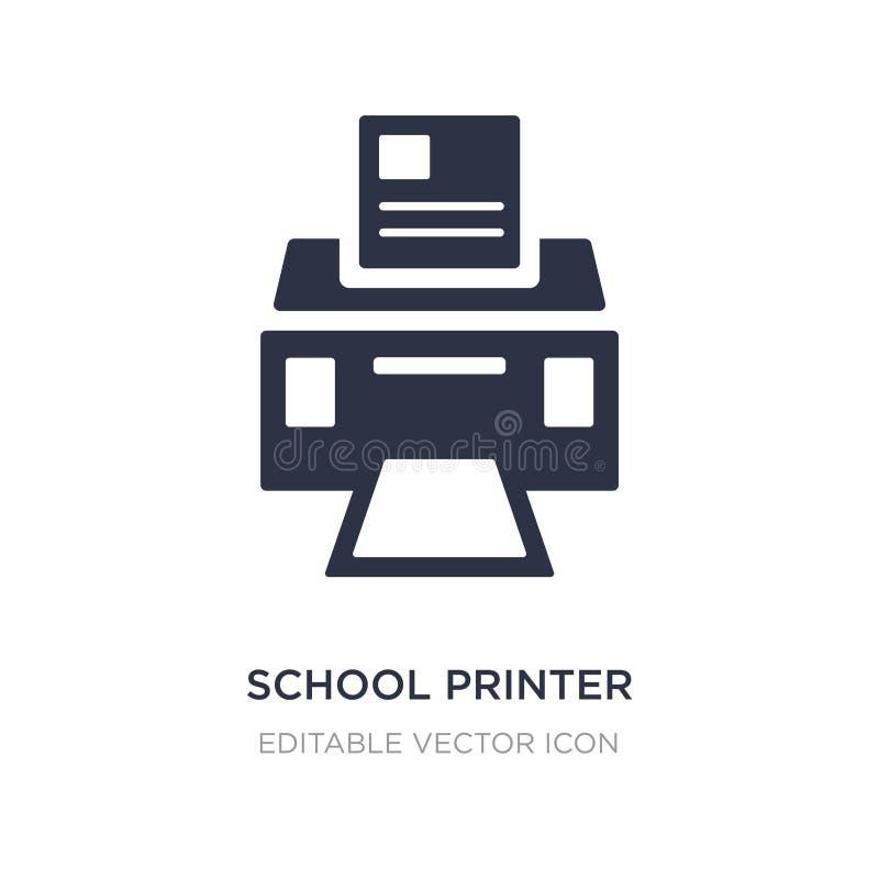 het pictogram van de schoolprinter op witte achtergrond Eenvoudige elementenillustratie van Algemeen concept stock illustratie