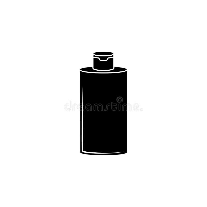 Het pictogram van de shampoocontainer Elementen van het pictogram van de schoonheidszaal Het grafische ontwerp van de premiekwali royalty-vrije illustratie