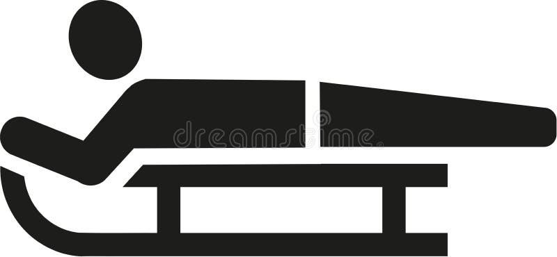 Het pictogram van de sleeruiter stock illustratie