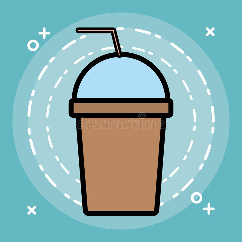 Het pictogram van de Smoothiedrank stock illustratie