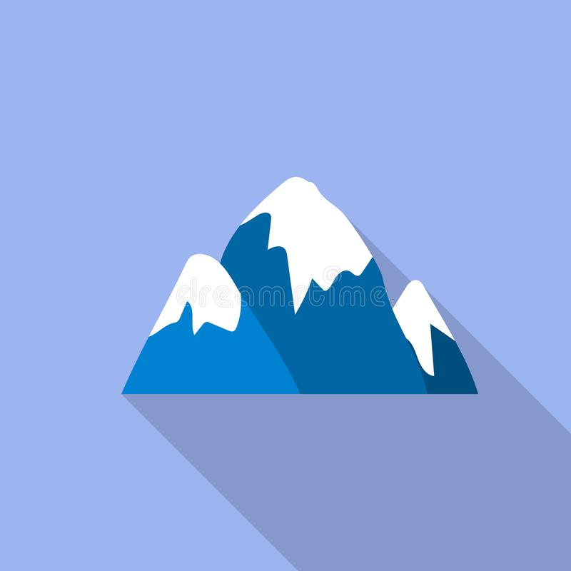 Het pictogram van de sneeuwglb berg, vlakke stijl vector illustratie