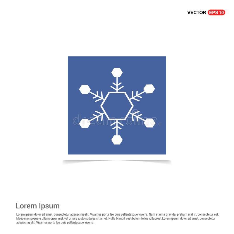 Het Pictogram van de sneeuwvlok - Blauw fotokader vector illustratie