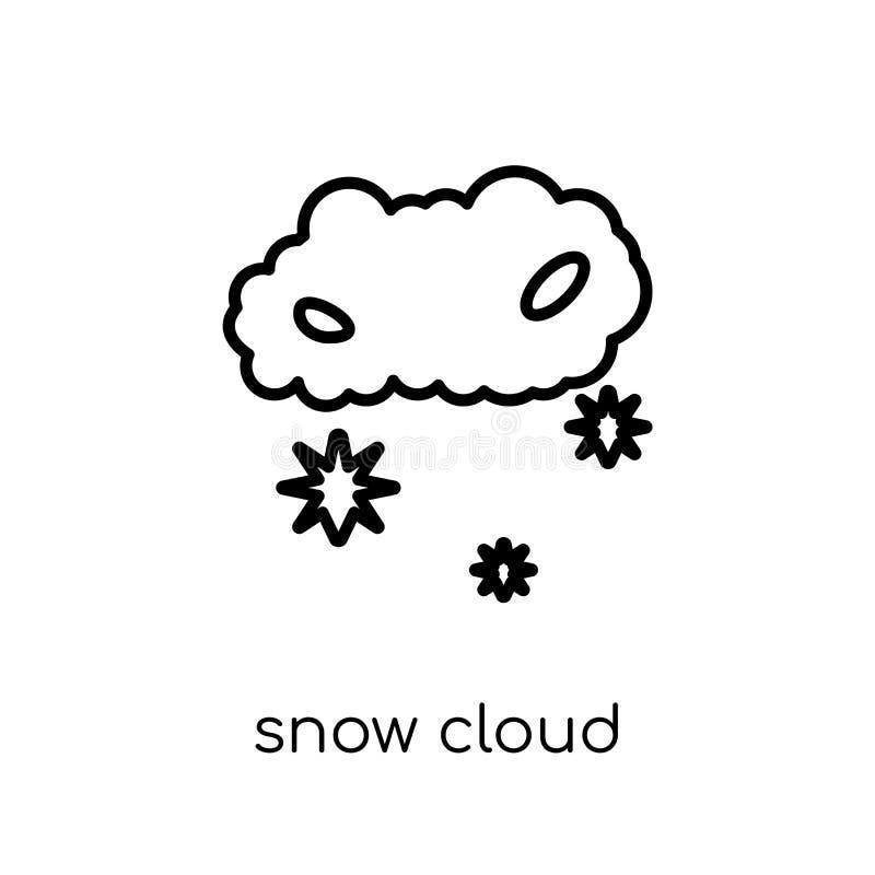 Het pictogram van de sneeuwwolk van Weerinzameling royalty-vrije illustratie