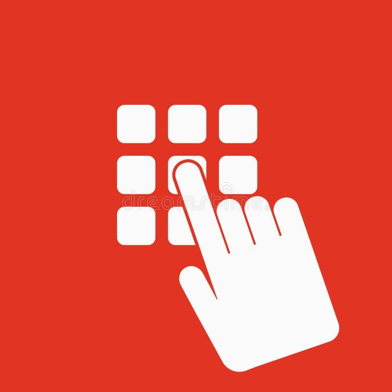 Het pictogram van de speldcode Het wachtwoord en opent, heeft tot, identificatie, opent symbool toegang vlak royalty-vrije illustratie
