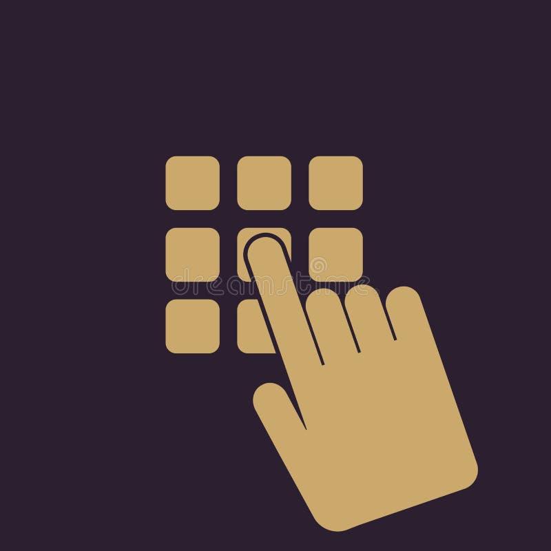 Het pictogram van de speldcode Het wachtwoord en opent, heeft tot, identificatie, opent symbool toegang vlak stock illustratie