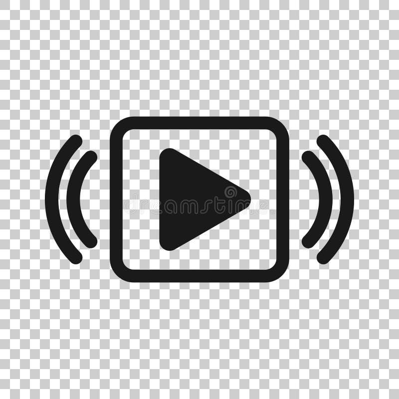 Het pictogram van de spelknoop in transparante stijl De stromende vectorillustratie van TV op ge?soleerde achtergrond Uitzendings royalty-vrije illustratie