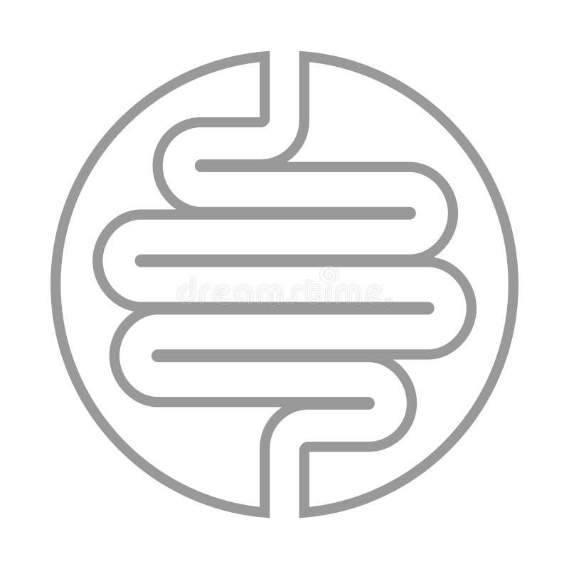 Het pictogram van de spijsverteringskanaalgrafiek royalty-vrije illustratie