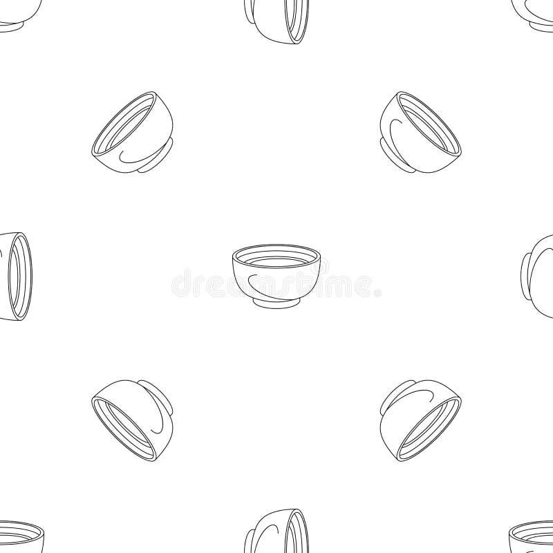 Het pictogram van de spinaziesoep, overzichtsstijl vector illustratie