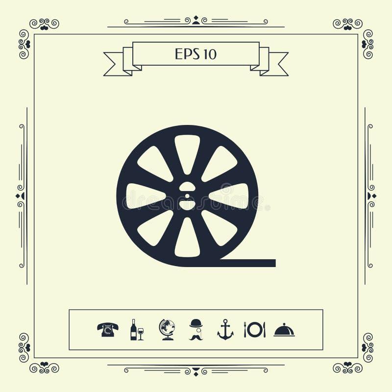 Het pictogram van de spoelfilm vector illustratie