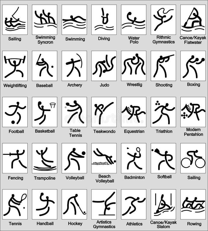 Het pictogram van de sport royalty-vrije illustratie
