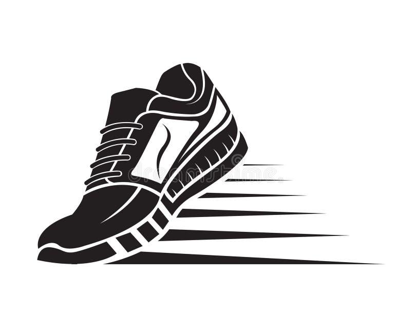 Het pictogram van de sportschoen stock illustratie