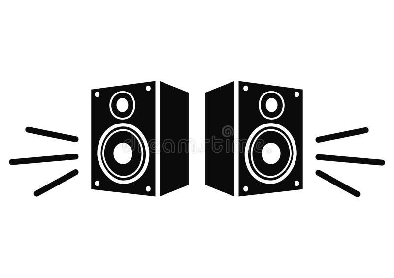 Het pictogram van de spreker royalty-vrije illustratie