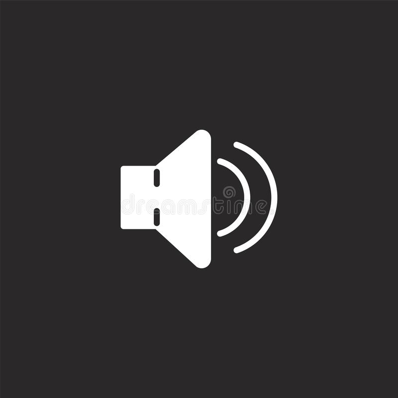 Het pictogram van de spreker Gevuld sprekerspictogram voor websiteontwerp en mobiel, app ontwikkeling sprekerspictogram van gevul stock illustratie