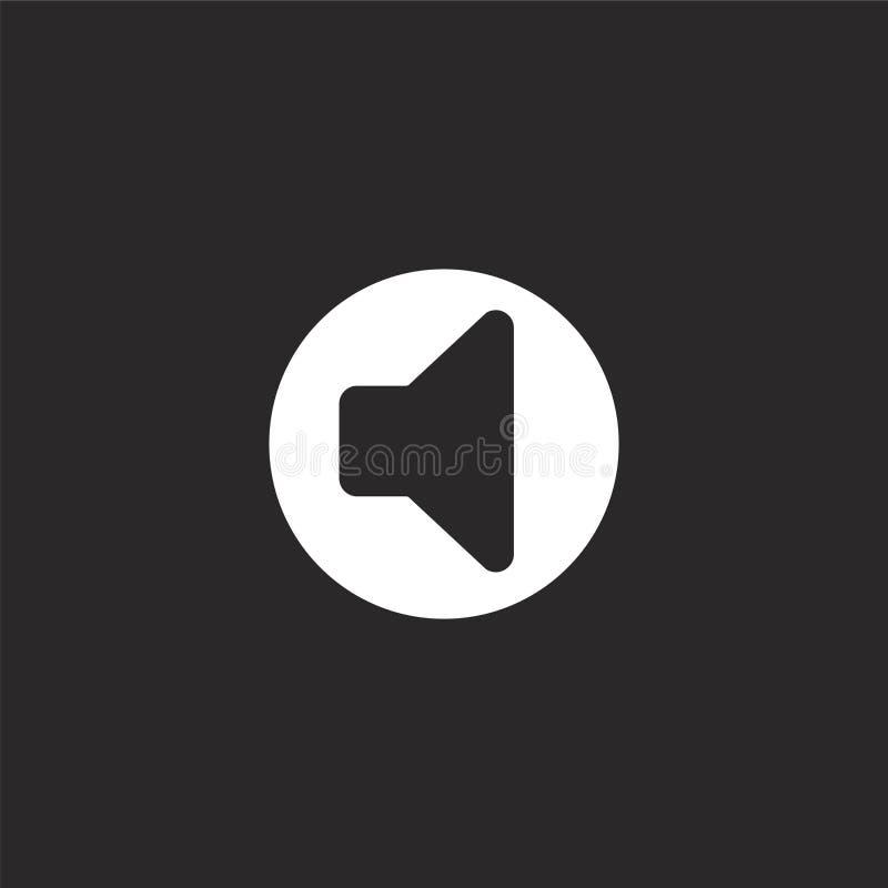 Het pictogram van de spreker Gevuld sprekerspictogram voor websiteontwerp en mobiel, app ontwikkeling sprekerspictogram van gevul royalty-vrije illustratie