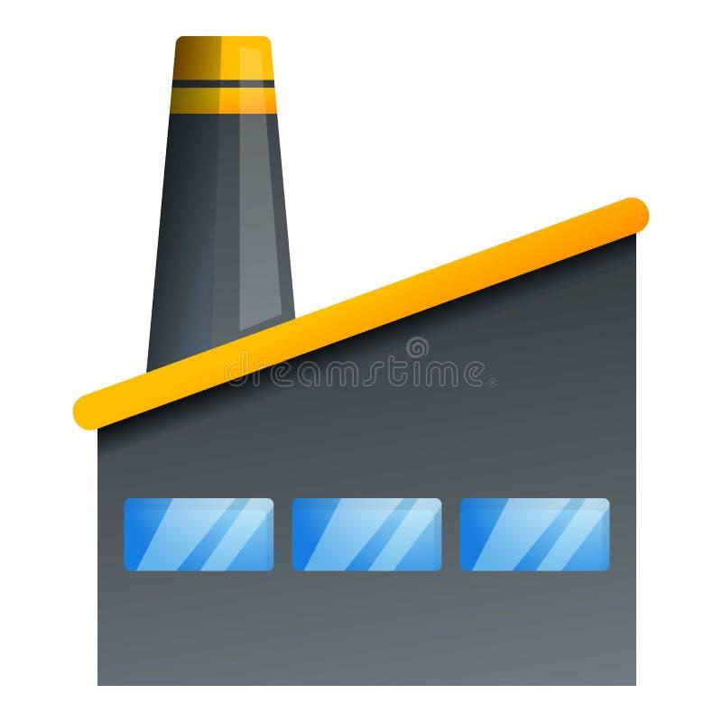 Het pictogram van de steenkoolfabriek, beeldverhaalstijl stock illustratie