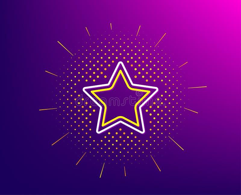 Het pictogram van de sterlijn Beste weelderig teken Vector vector illustratie