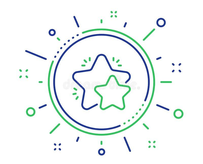 Het pictogram van de sterlijn Het teken van de terugkoppelingsclassificatie Vector stock illustratie