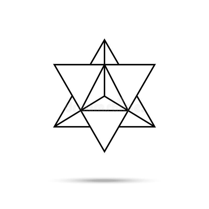Het pictogram van de stertetrageder royalty-vrije illustratie