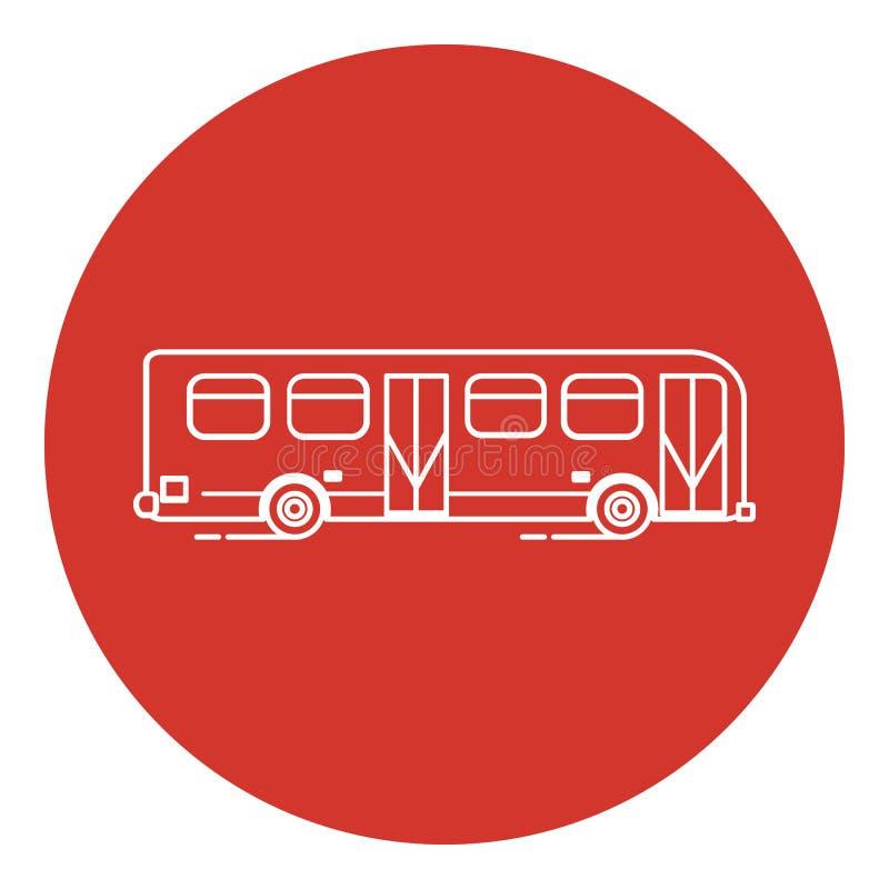Het pictogram van de de stijlbus van de lijnkunst vector illustratie