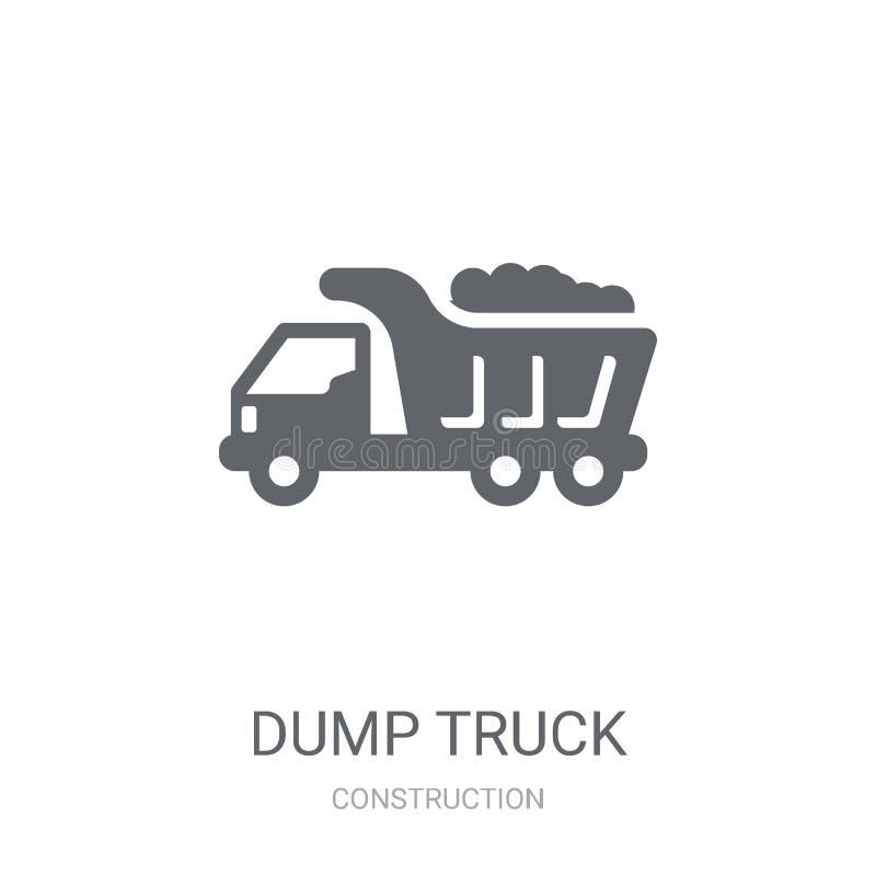 Het pictogram van de stortplaatsvrachtwagen  stock illustratie