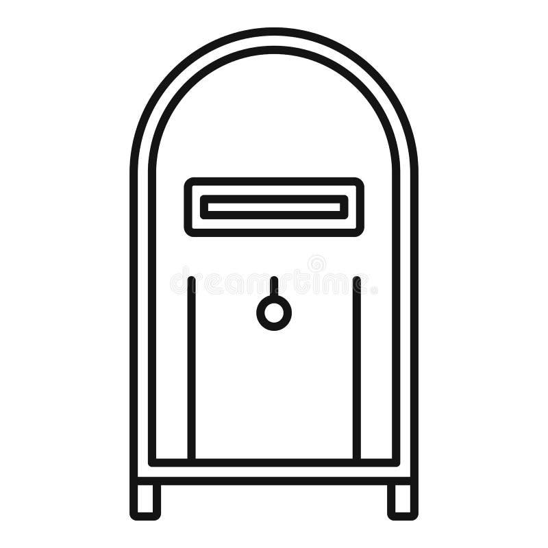 Het pictogram van de straatpostbus, overzichtsstijl royalty-vrije illustratie