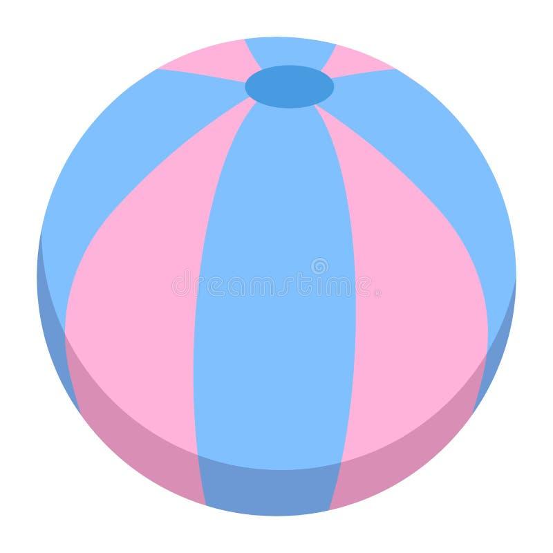 Het pictogram van de strandbal, vectorillustratie vector illustratie