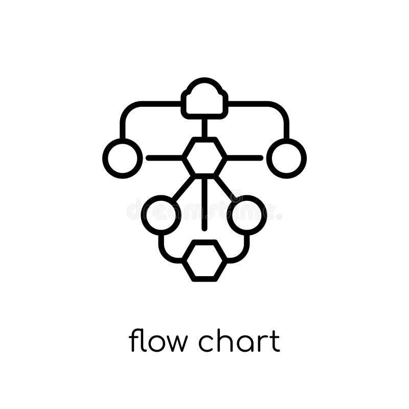 Het pictogram van de stroomgrafiek  royalty-vrije illustratie