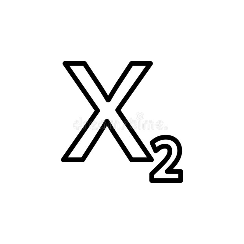 Het pictogram van de subscripttekst Kan voor Web, embleem, mobiele toepassing, UI, UX worden gebruikt royalty-vrije illustratie