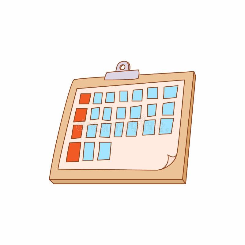 Het pictogram van de tabletomslag, beeldverhaalstijl stock illustratie