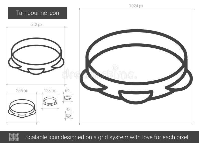 Het pictogram van de tamboerijnlijn vector illustratie